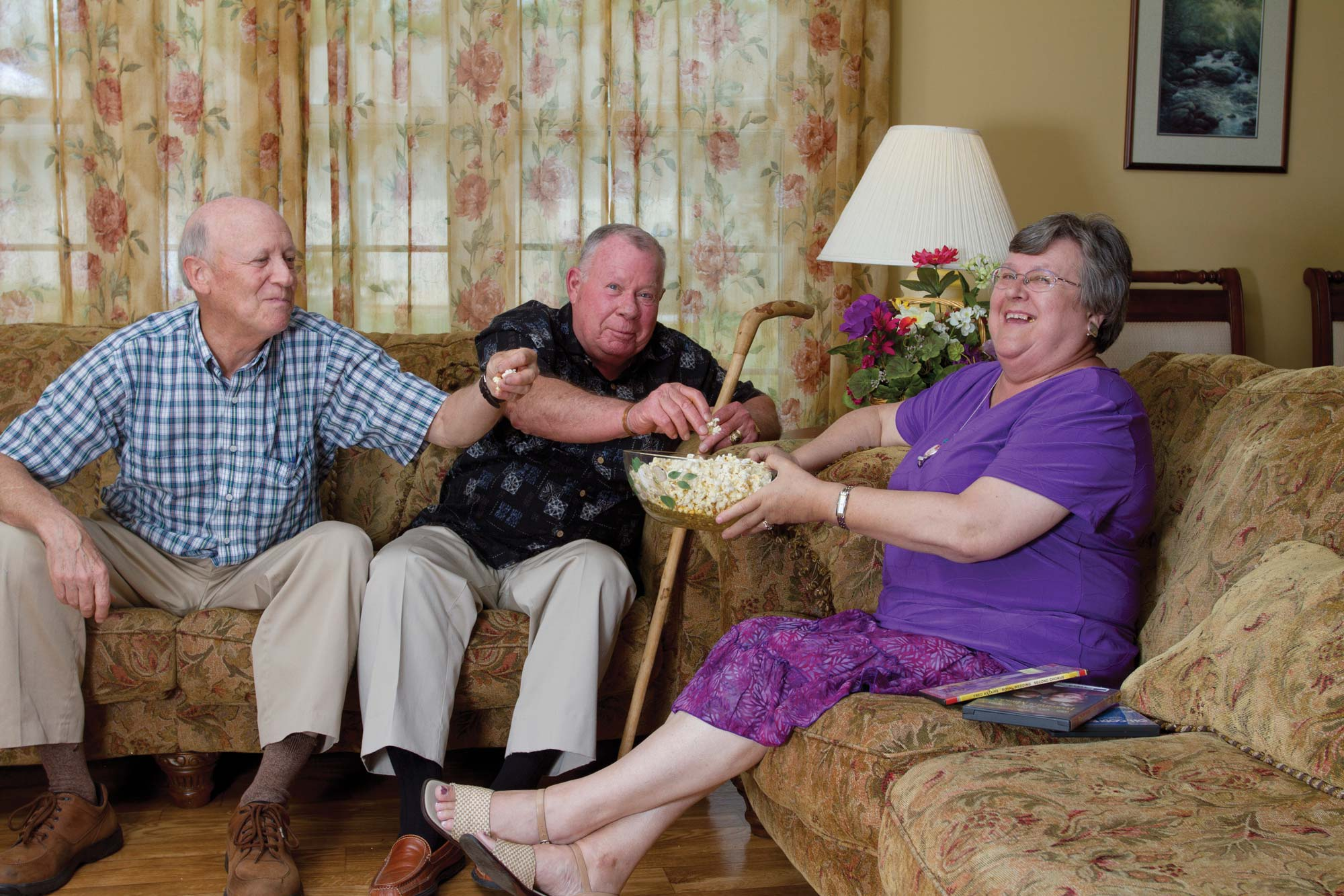 Senior living patients smiling in Brevard, NC - Tore's Home Inc